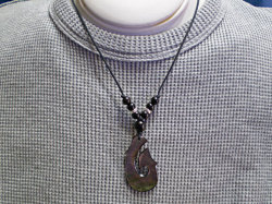海からの贈り物★黒蝶貝チョーカー フィッシュフック