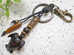 サーファー必見!ウッド(木彫り)キーホルダー カメ
