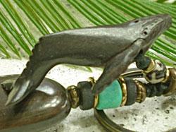 海モチーフ★ウッド(木彫り)キーホルダー ザトウクジラ